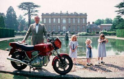 Slim Aarons, 'Motorcycling Lord', 1990