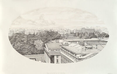 Sandow Birk, 'A Sniper's View of the White House (from the Willard Building)', 2010