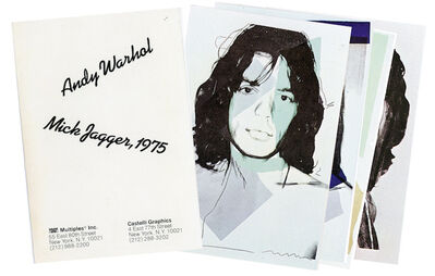 Andy Warhol, 'Castelli Graphics, Andy Warhol, Mick Jagger, Portfolio with 10 Postcards', 1975