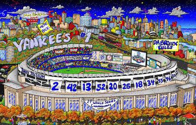 Charles Fazzino, 'Yankee World Series ', 2009