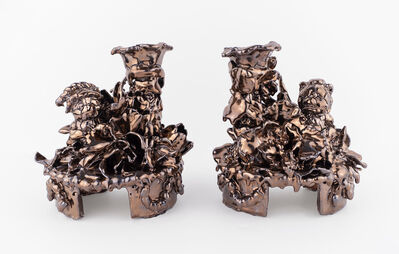 Anthony Sonnenberg, 'Pair of Candelabras with Bears (Aztec Gold)', 2020