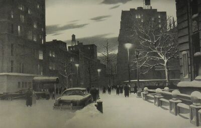 """Stow Wengenroth, '""""Lower Fifth Avenue, New York""""', 1959"""