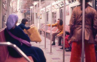 Hélio Oiticica, 'Parangolé Cape 30 in the New York City Subway', 1972