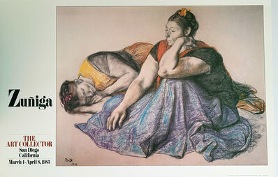Francisco Zúñiga, 'Zuniga, The  Art Collector, San Diego, California, March 4 -April 8, 1983', 1983