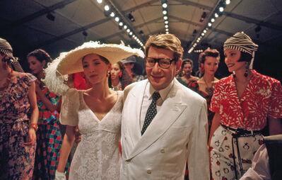 Harry Benson, 'Yves St. Laurent with Models, Paris', 1993