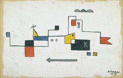 Augusto Torres, 'Formas con fondo blanco', 1936