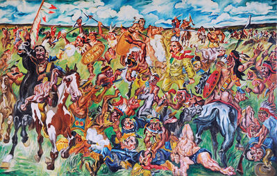 Raoul Middleman, 'Custer's Last Stand', 1967