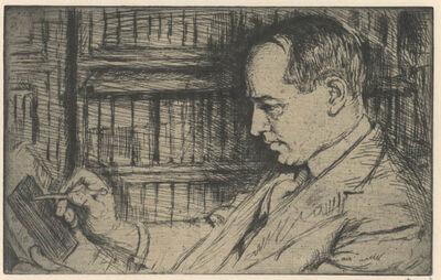 Joseph Margulies, 'An Etcher, Morris Greenberg or Morris Greenberg', 1921