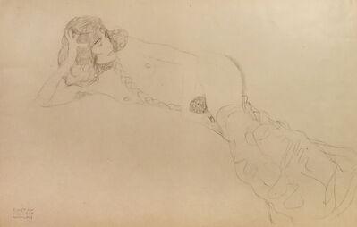 Gustav Klimt, 'Nude of a Woman with Braids', 1919
