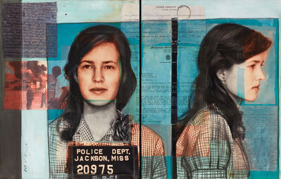 """Charlotta Janssen, 'Illustration (Pages 15-16) from """"She Stood For Freedom: The Untold Story of a Civil Rights Hero, Joan Trumpauer Mulholland""""', 2015"""