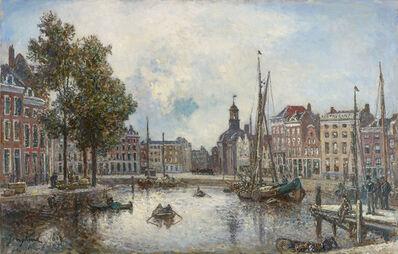 Johan Barthold Jongkind, 'Le port de Rotterdam, le matin; vue sur la Bourse', 1869