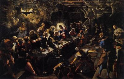 Jacopo Tintoretto, 'The Last Supper', 1592-1594