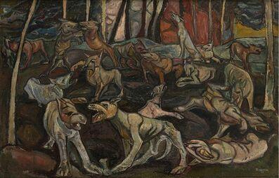 Emilio Scanavino, 'La battaglia dei cani', 1949