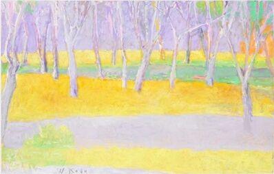 Wolf Kahn, 'Tree Trunks on a Rise', 2002-2004