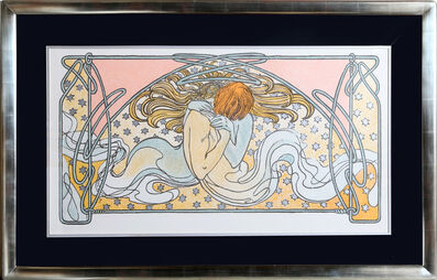 Alphonse Mucha, 'Kissing Mermaids, 24', 1982