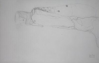 """Gustav Klimt, 'Study for """"Water Serpents I"""" [Fünfundzwanzig Handzeichnungen]', 1919"""