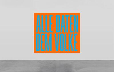 SUPERFLEX, 'Alle Daten Dem Volke', 2020