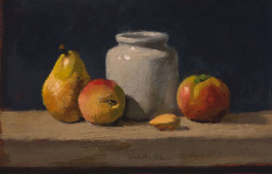 Robert Kulicke, 'Pear, Peach, Mustard Jar, Tomato and Almond', 1982