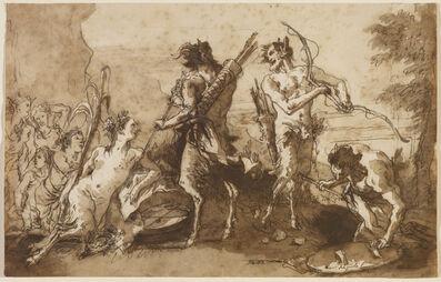 Giovanni Domenico Tiepolo, 'Satyrs and Satyresses in a Landscape', ca. 1770