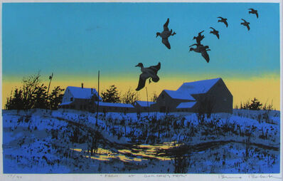 Bruno Bobak, 'Farm at Dorchester with Ducks', ca. 1970-1990