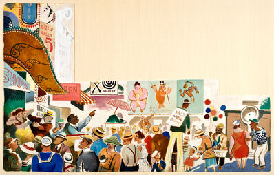 William Gropper, 'Coney Island Midway', 1934