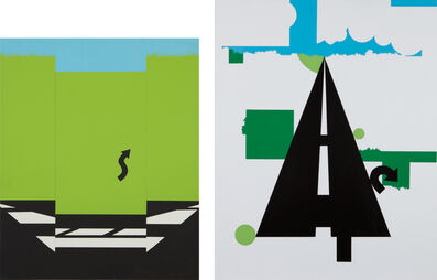 Allan D'Arcangelo, 'Landscape I, from 11 Pop Artists, Volume I; and Landscape II, from 11 Pop Artists, Volume II', 1965-66