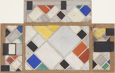 Theo Van Doesburg, 'Colour design for ceiling and three walls, small ballroom, conversion of Café Aubette interior Strasbourg', 1926-1907