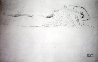 """Gustav Klimt, 'Second Study for """"Water Serpents II"""" [Fünfundzwanzig Handzeichnungen]', 1919"""