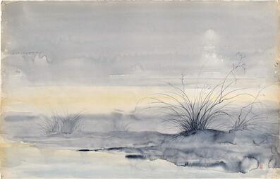 Kakunen Tsuruoka, 'untitled (desert grass in misty landscape)', ca. 1942-44