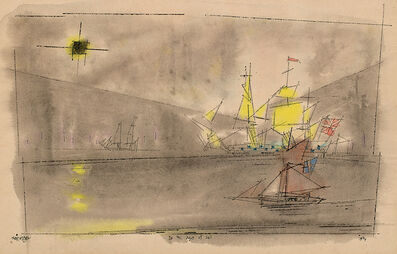 Lyonel Feininger, 'In the Days of Sail', 1944