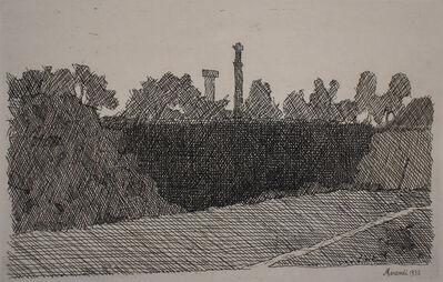 Giorgio Morandi, 'View of Montagnola, Bologna | Veduta della montagnola di Bologna', 1932