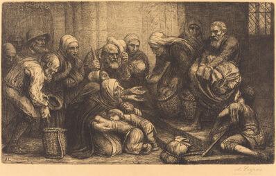 Alphonse Legros, 'Beggars of Brussels (Les mendiants de Bruges)'
