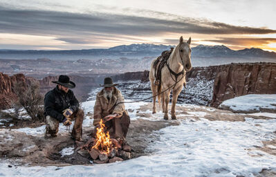 David Yarrow, 'Blazing Saddles', 2021