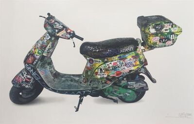 "Invader, 'SPACE INVADER ""SCOOTER"" SIGNED & NUMBERED BY ARTIST', 2015"