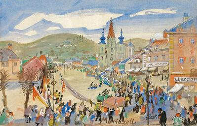 Oskar Laske, 'Procession in Maria Zell', 1920/1921