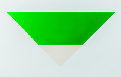 Ellsworth Kelly, 'Green/White', 1971-72