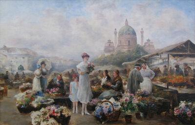 Emil Barbarini, 'Vienna Flower Market', ca. 1925-1926