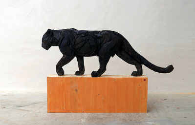 Jürgen Lingl-Rebetez, 'Black Walking Panther', 2019