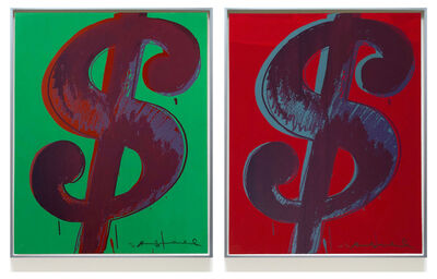 Andy Warhol, 'Pair of Dollar Signs (F. & S. II. 274-279)', 1982