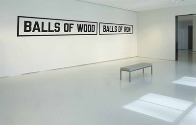 Lawrence Weiner, 'BALLS OF WOOD BALLS OF IRON'