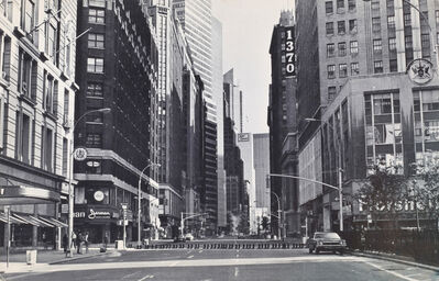 Eleanor Antin, '100 BOOTS CROSS HERALD SQUARE, 35th St. & Broadway, New York City, May 13, 1973, 8:10 A.M.', 1973