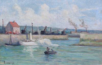 Maximilien Luce, 'Honfleur, l'Entrée du Port', 1929
