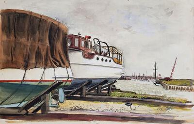 Fairfield Porter, 'Marina Scene', ca. 1960