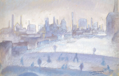 """Herbert Gurschner, '""""London im Nebel"""" (London in the fog)', 1933"""