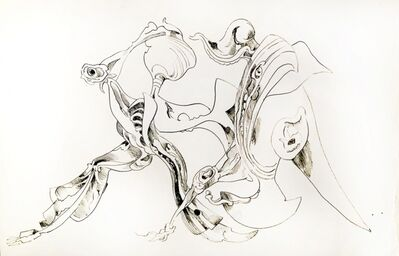 Kurt Seligmann, 'Untitled (Surrealist Study of Dancing Figures)', 1952