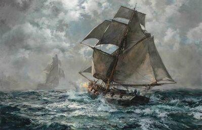 Montague Dawson, 'Night Suspect (A British Coast Guard Cutter in Pursuit)'