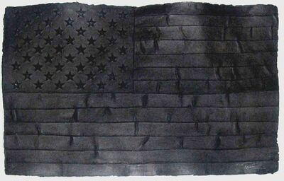 Robert Longo, 'Black Flag', 1999