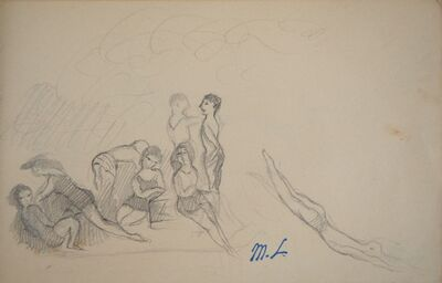 Marie Laurencin, 'At the beach, bathers', 20th  Century