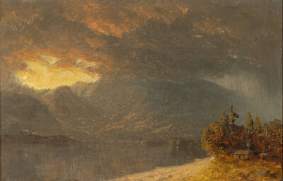 Sanford Robinson Gifford, 'A Coming Shower, A Sketch', Date unknown.