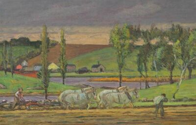 Theodore Wendel, 'Ploughing the Field, Ipswich', 19th -20th Century